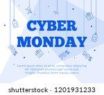 modern flat cyber monady big...   Shutterstock .eps vector #1201931233
