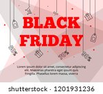 modern flat black friday big...   Shutterstock .eps vector #1201931236