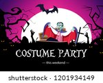 costume weekend party banner... | Shutterstock .eps vector #1201934149