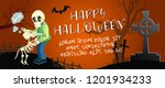 happy halloween horizontal... | Shutterstock .eps vector #1201934233