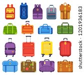 baggage suitcase. handle travel ... | Shutterstock .eps vector #1201936183