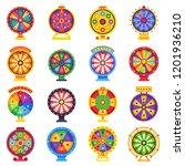 fortune wheel. betting wheels ... | Shutterstock .eps vector #1201936210