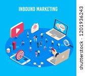 inbound marketing isometric.... | Shutterstock .eps vector #1201936243