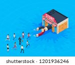store attraction customers.... | Shutterstock .eps vector #1201936246