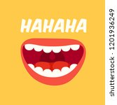 laughing mouth. april fools day.... | Shutterstock .eps vector #1201936249
