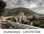 mostar  bosnia  july 28  2018 ... | Shutterstock . vector #1201937266
