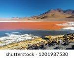 laguna colorada. mountains of... | Shutterstock . vector #1201937530