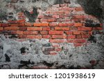 old brick wall texture at wat... | Shutterstock . vector #1201938619