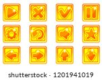 vector golden square collection ... | Shutterstock .eps vector #1201941019