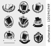 books label and icons set.... | Shutterstock .eps vector #1201941949