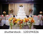 beautiful wedding reception | Shutterstock . vector #120194326