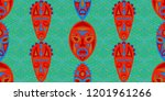 seamless folk background.... | Shutterstock .eps vector #1201961266