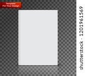 blank book cover on transparent ... | Shutterstock .eps vector #1201961569