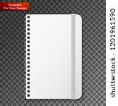 blank copybook template with... | Shutterstock .eps vector #1201961590