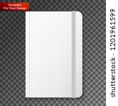 blank copybook template with... | Shutterstock .eps vector #1201961599