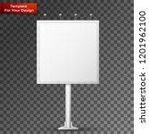 blank billboard screen  isolated | Shutterstock .eps vector #1201962100