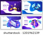 set of web page design... | Shutterstock .eps vector #1201962139
