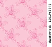 seamless pattern with orchid... | Shutterstock .eps vector #1201965946