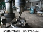 drilling machine turning works... | Shutterstock . vector #1201966663