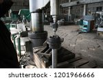 drilling machine turning works... | Shutterstock . vector #1201966666