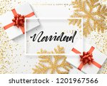 christmas background with gifts ... | Shutterstock .eps vector #1201967566