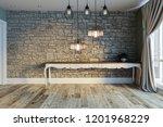 stone wall lamp modern interior ... | Shutterstock . vector #1201968229