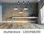 stone wall lamp modern interior ... | Shutterstock . vector #1201968250
