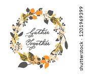 vector holiday thanksgiving... | Shutterstock .eps vector #1201969399