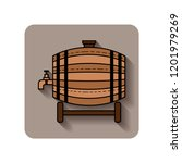 wooden barrel for beer  water... | Shutterstock .eps vector #1201979269