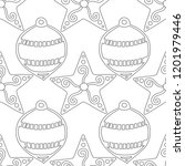 gingerbread. black and white... | Shutterstock .eps vector #1201979446