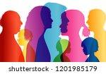 dialogue between people of... | Shutterstock . vector #1201985179