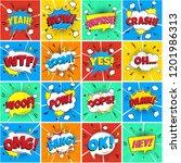 colorful comic speech bubbles... | Shutterstock .eps vector #1201986313