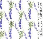 floral seamless pattern with... | Shutterstock .eps vector #1201987129