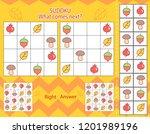 sudoku worksheets. game for...   Shutterstock .eps vector #1201989196