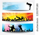 advertising banners for sports... | Shutterstock . vector #120199180