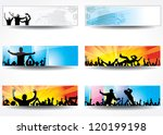 advertising banners for sports... | Shutterstock . vector #120199198