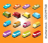 isometric car icon vectors | Shutterstock .eps vector #120199768