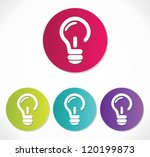 light bulb icon | Shutterstock .eps vector #120199873