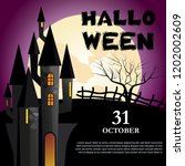 halloween  october thirty first ... | Shutterstock .eps vector #1202002609