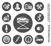 auto service icons set | Shutterstock .eps vector #1202013250