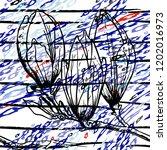 tropical  stripe  animal motif. ...   Shutterstock .eps vector #1202016973