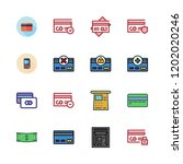 debit icon set. vector set...   Shutterstock .eps vector #1202020246