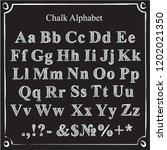 chalk alphabet. alphabet in... | Shutterstock .eps vector #1202021350