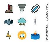 rain icon set. vector set about ... | Shutterstock .eps vector #1202024449