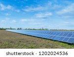 solar panels  photovoltaic ... | Shutterstock . vector #1202024536