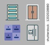closed icon set. vector set... | Shutterstock .eps vector #1202028880
