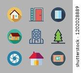 exterior icon set. vector set... | Shutterstock .eps vector #1202028889