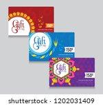 diwali festival offer gift card ... | Shutterstock .eps vector #1202031409