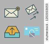 correspondence icon set. vector ...   Shutterstock .eps vector #1202033053