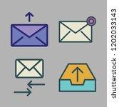correspondence icon set. vector ...   Shutterstock .eps vector #1202033143